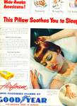 1951 - Goodyear super cushioned pillows ad
