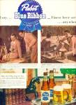 Click here to enlarge image and see more about item Z11174: 1951 - Pabst Blue Ribbon beer ad
