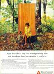 Click here to enlarge image and see more about item Z1118: 1965 Weyerhaeuser AD Woman in Woods Sitting