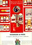 Click here to enlarge image and see more about item Z11298: `1965 - Currier & Ives toiletries ad