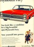 Click here to enlarge image and see more about item Z11305: 1965 -  .Plymouth Fury for 1966 ad