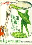 1953 -  Green giant sweet peas ad