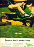 Click here to enlarge image and see more about item Z11336: 1970 -  John Deere lawn tractor ad