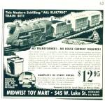 Click here to enlarge image and see more about item Z11355: 1948 - Midwest toy mart - electrain train set