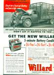 1952 - Willard safety fill batteries ad