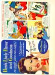 Click here to enlarge image and see more about item Z11474: 1950 -  V-8 vegetable juices ad -GENE TIERNEY