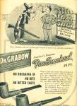 Click here to enlarge image and see more about item Z11541: 1945 -  Dr. Grabow - the pre smoked pipe ad