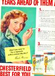 Click here to enlarge image and see more about item Z11589: 1953 - Chesterfield cigarettes -RHONDA FLEMIN