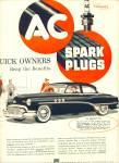 1950 - A C  Spark Plugs ad