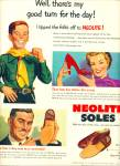 Click here to enlarge image and see more about item Z11622: 1950 -  Neolite soles ad