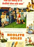1949 -  Neolite soles ad VINCENT GILBERT FAMILY