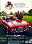 Click here to enlarge image and see more about item Z11744: 1971 -  Oldsmobile cutless for 1972