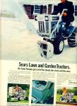 1969 -  Sears Lawn and garden tractors ad