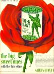 Click here to enlarge image and see more about item Z11769: 1954 -  Green Giant peas ad