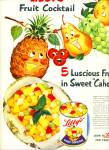 Click here to enlarge image and see more about item Z11808: 1951 -  Libby's fruit cocktail ad