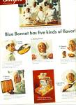 Click here to enlarge image and see more about item Z11831: 1968 -  Blue Bonnet margarine ad