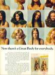 Click here to enlarge image and see more about item Z11865: 1971 -  Great body CLAIROL MODELS AD