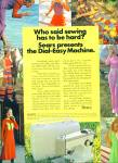 Click here to enlarge image and see more about item Z11897: 1971 -  SEARS SEWING MACHINE AD BLONDE MODEL
