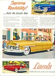 1949 -  Lincoln cosmopolitan ad THREE MODELS