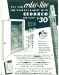 Click here to enlarge image and see more about item Z1270: Cedar Line closet with Cedarco ad 1955