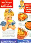 Click here to enlarge image and see more about item Z1352: Sunbeam Bread ads 1956 ELLEN SEGNER ART