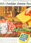 Click here to enlarge image and see more about item Z1353: Kraft delux slices American cheese ad 1956