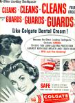 Click here to enlarge image and see more about item Z1367: Colgate dental cream with gardol ad 1956