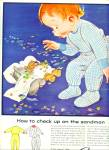 Click here to enlarge image and see more about item Z1375: 1956 Carter's Clothing AD BOY - PJ's TEDDY