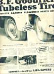 B. F.Goodrich tires ad 1954