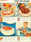Click here to enlarge image and see more about item Z1513: Chef Boyardee meals ad 1954