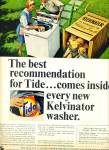 Tide washing machine soap ad 1965