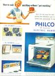Click here to enlarge image and see more about item Z1580: Philco electric range ad 1956