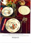 1983 Wedgwood Dinnerware AD Queens Ware