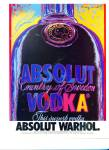 Click here to enlarge image and see more about item Z1783: ABSOLUT WARHOL  ad  1992