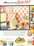 Click here to enlarge image and see more about item Z1838: General plastics - Bolta Wall ad 1956