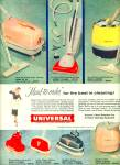 Universal ome cleaning equipment ad 1957