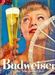 Click here to enlarge image and see more about item Z1889: Budweiser beer ad 1957 THERES BUD THERES LIFE