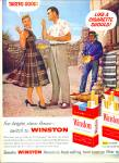 Click here to enlarge image and see more about item Z1896: Winston cigarettes ad 1957