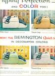 Click here to enlarge image and see more about item Z1914: Remington quiet riter typewriters ad 1956