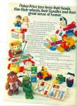 Click here to enlarge image and see more about item Z2060: Fisher Price toys ad 1977