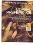 Click here to enlarge image and see more about item Z2076: 1970 L'Oreal preference 2PG AD MODEL