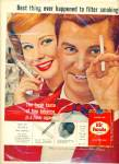 Click here to enlarge image and see more about item Z2101: Hit Parade cigarettes ad 1957