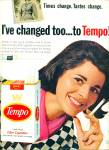 Tempo filter cigarettes ad 1966