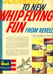 Click here to enlarge image and see more about item Z2219: 1960 Revell Whip Flying Airplane Model Kit AD