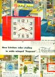Telechron electric clocks ad 1952