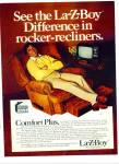La-Z-Boy rocker-recliners- JOE NAMATH ad 1978