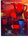 Click here to enlarge image and see more about item Z2416: 1977 VIKING GLASS GEORGIAN Shapes PATTERN AD
