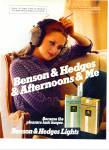 1979 Benson Hedges CIGARETTES AD Earphones