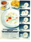 Click here to enlarge image and see more about item Z2440: 1978 Corning CORNINGWARE WILDFLOWER Cookware AD