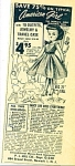 1950s AMERICAN GIRL SAUCY SUE DOLL AD Miss Re
